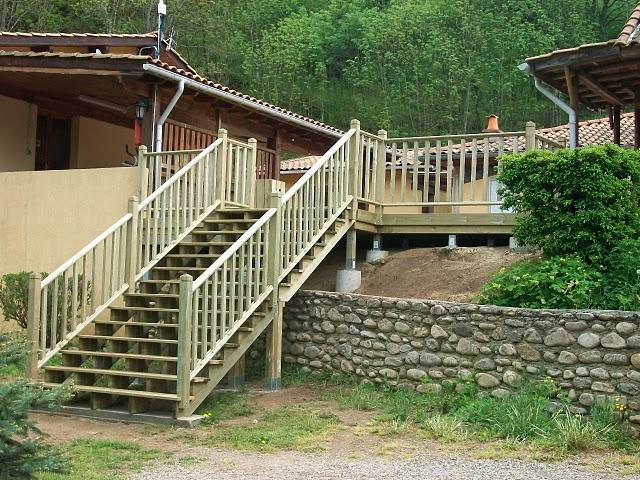 escalier extérieur en kit installé